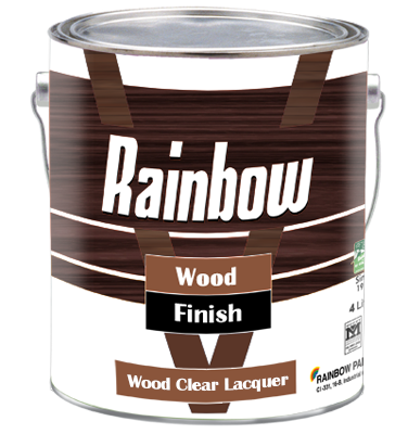 Rainbow Wood Clear Lacquer